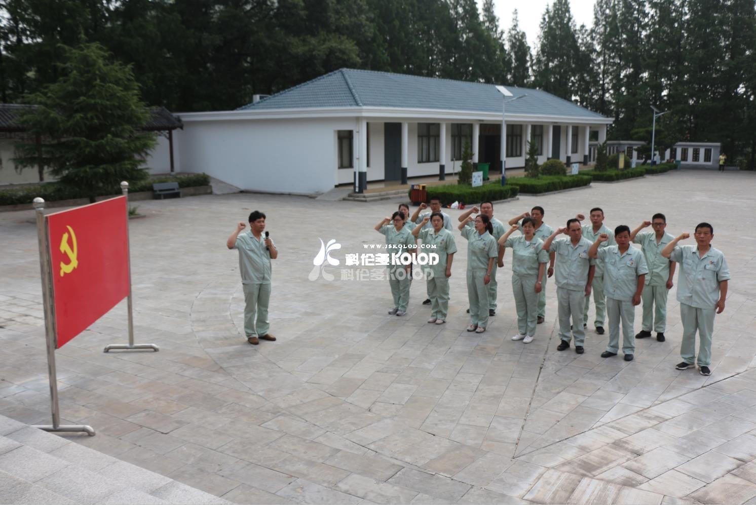 科伦多党员赴灌云县大伊山烈士陵园进行主题党日活动
