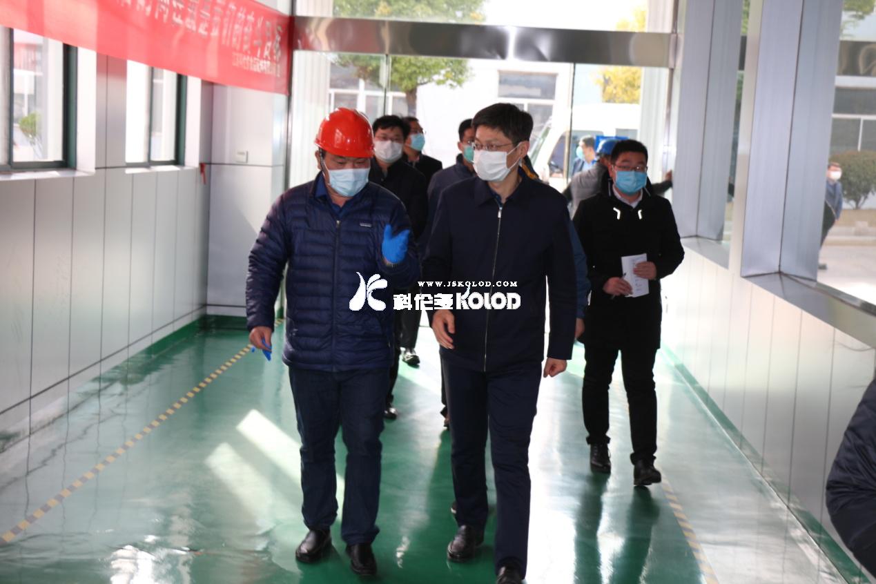 连云港市人大常委会副主任左军莅临江苏科伦多检查指导疫情防控和企业复工复产工作