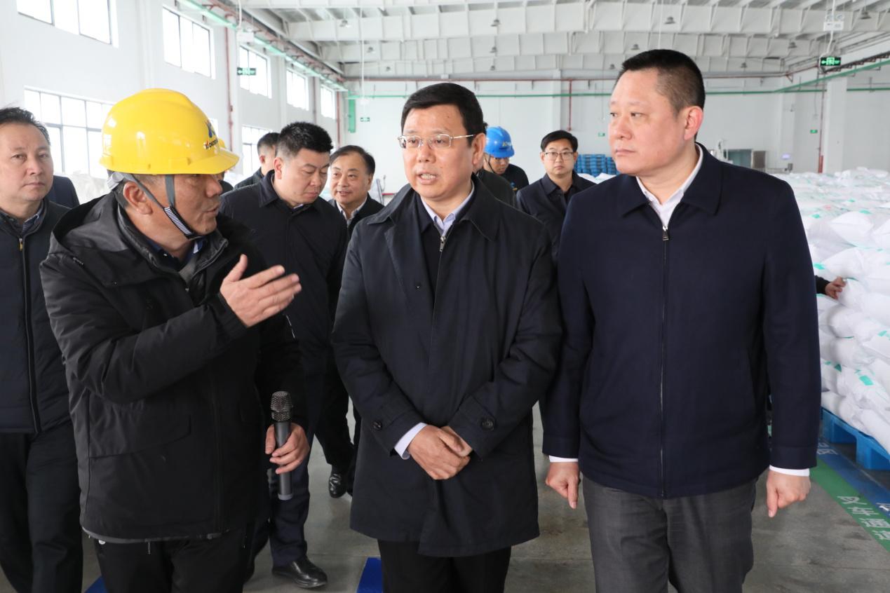 连云港市委常委、常务副市长胡建军莅临科洛吉公司调研指导工作